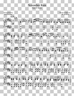 Sheet Music November Rain Piano Guns N' Roses PNG