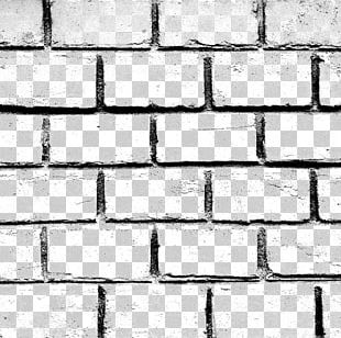 Stone Wall Brick Black And White Material PNG