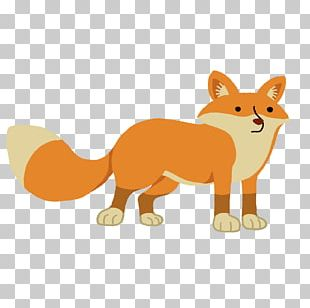 Whiskers Red Fox Cat Cartoon PNG