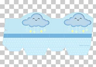 Cloud Baby Shower Rain Blessing Party PNG