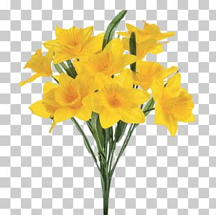 Daffodil Artificial Flower Plant Stem PNG