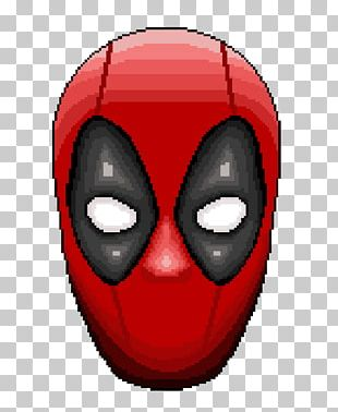 Deadpool Mask Pixel Art PNG