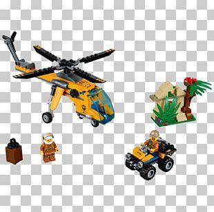 Amazon.com LEGO 60158 City Jungle Cargo Helicopter Lego City Hamleys PNG