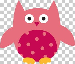 Owl Pink M Character PNG