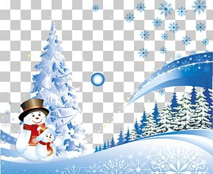 Christmas Card New Year Santa Claus Christmas Tree PNG