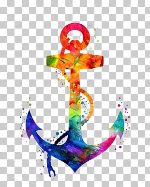 Anchor Drawing Watercolor Painting Coloring Book PNG