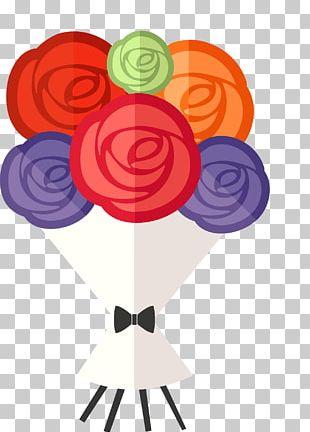 International Womens Day Wedding Invitation Flower Bouquet Greeting Card PNG