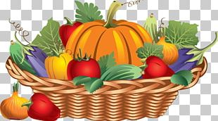 Basket Thanksgiving Turkey Fruit PNG