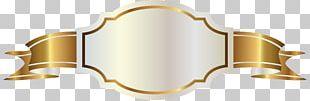Banner Gold Label PNG