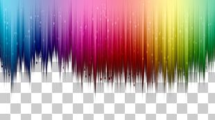 Colorful Top Color Gradient Border Background PNG