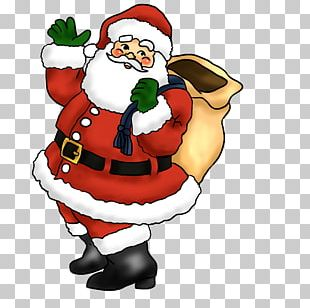 Santa Claus Father Christmas Candy Cane PNG