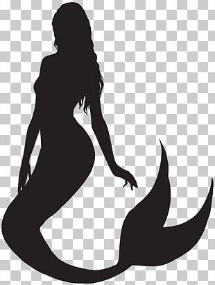 Ariel Mermaid Silhouette PNG