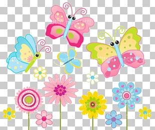 Butterfly Flower Color PNG
