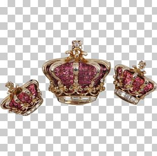 Earring Ruby Golden Jubilee Diamond Brooch Crown PNG