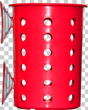 Red Plastic Suction Cup Mug PNG