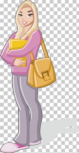 Student Cartoon Woman Illustration PNG