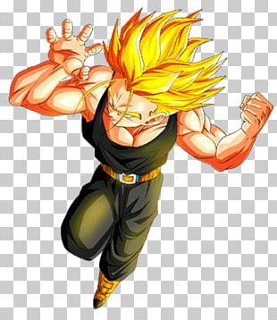 Trunks Goku Vegeta Majin Buu Dragon Ball Heroes PNG