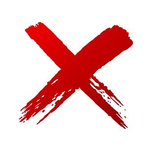 X Mark Drawing Red Check Mark PNG