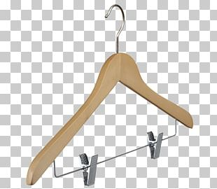 Clothes Hanger Wood Clothing Plastic Metal PNG