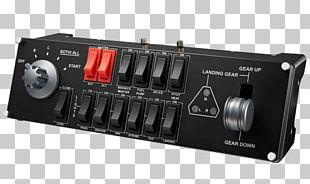 Joystick Saitek Pro Flight Switch Panel Game Controllers Flight Simulator PNG