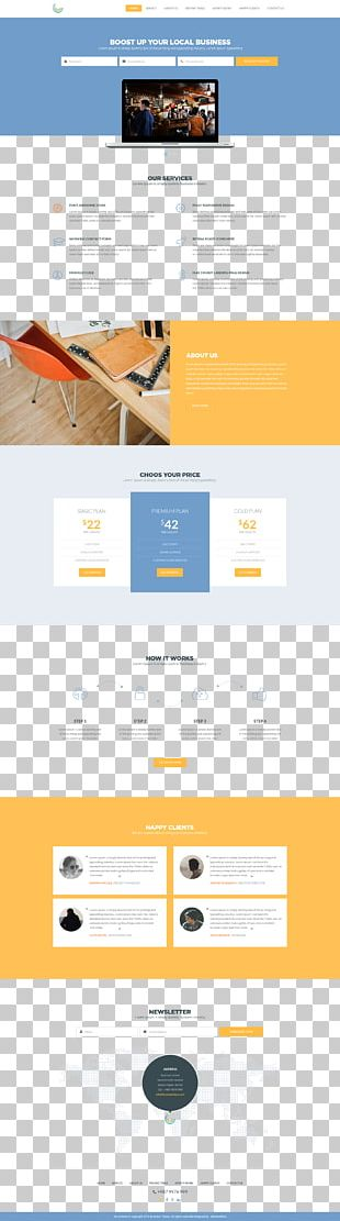 Web Template System Business PNG