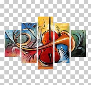 Painting Abstract Art Canvas Modern Art PNG
