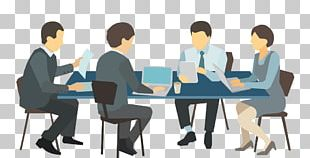 Meeting Desk Illustration PNG