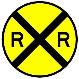 Rail Transport Train Level Crossing Sign Track PNG
