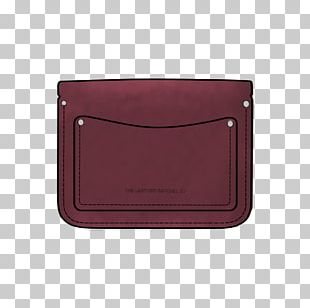 Wallet Coin Purse Bag Maroon PNG
