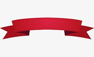 Simple Red Ribbon Border PNG