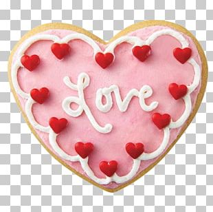 Sugar Cookie Valentine's Day Frosting & Icing Petit Four Starbucks PNG