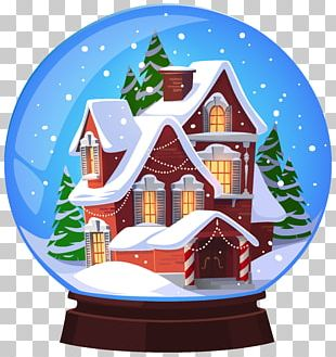 Snow Globe Christmas Santa Claus PNG