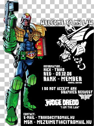 Judge Dredd Judge Anderson Comic Book Comics PNG