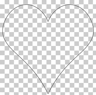White Heart Black Angle Pattern PNG