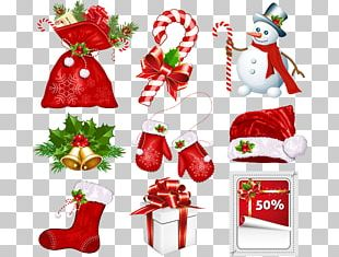 Candy Cane Santa Claus Christmas Symbol PNG