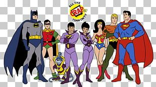 Superman Aquaman Batman Wonder Woman Hanna-Barbera PNG