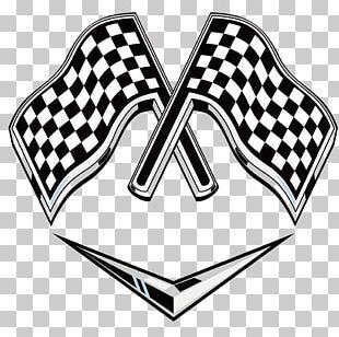 Racing Flags Auto Racing Logo PNG