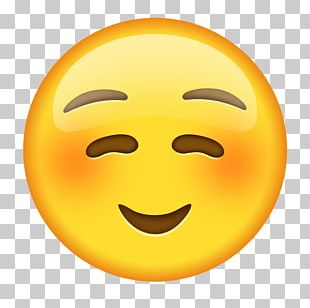 Emoji Emoticon Blushing Smiley Text Messaging PNG