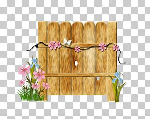Picket Fence Wood Garden PNG