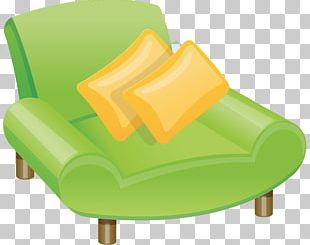 Wing Chair Table Couch PNG