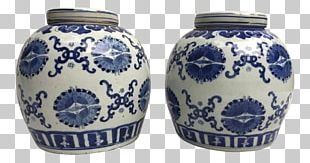 Blue And White Pottery Ceramic Cobalt Blue Vase PNG