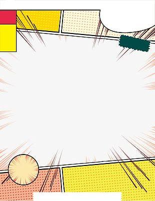 Yellow Comic Frame PNG