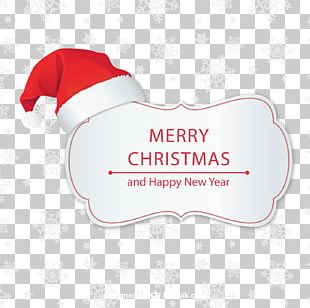 Santa Claus Christmas Card Merry Christmas With Bing Crosby PNG