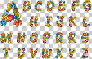 Alphabet Letter Case Flower PNG