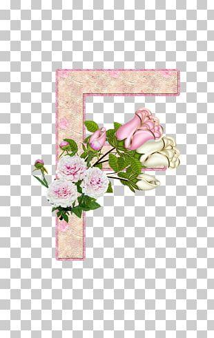 Garden Roses Letter Floral Design Flower Alphabet PNG