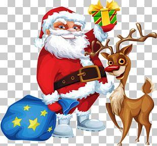 Rudolph Santa Clauss Reindeer Santa Clauss Reindeer Christmas Card PNG