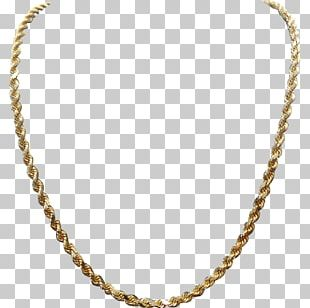 Necklace Jewellery Rope Chain Gold PNG