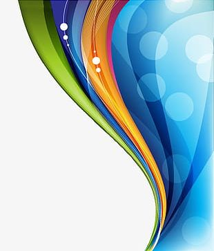 Colorful Technology Background Material PNG