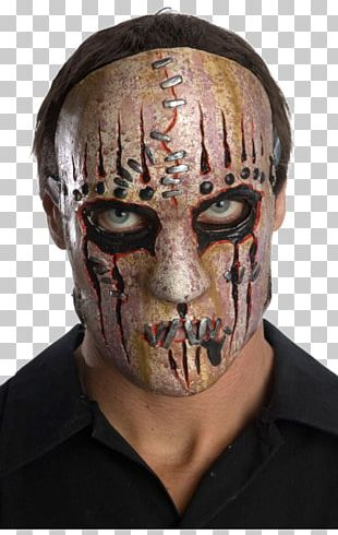 Slipknot Latex Mask Harlequin Costume PNG