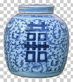 Blue And White Pottery Ceramic Cobalt Blue Glass PNG